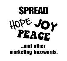 Marketing Buzzwords Photographic Print