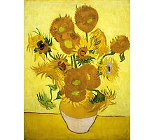 Vincent van Gogh - Still Life - Vase with Fifteen Sunflowers Photographic Print