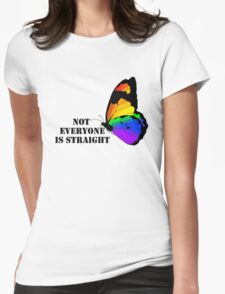 Homosexual - Not Everyone is Straight Womens Fitted T-Shirt