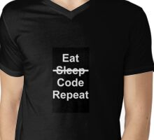 Eat, No Sleep, Code, Repeat Mens V-Neck T-Shirt