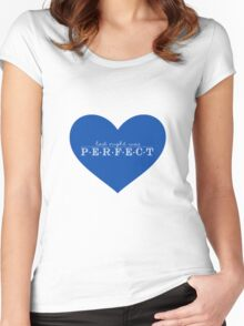 Last night was perfect  Women's Fitted Scoop T-Shirt