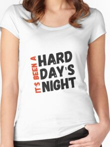 Hard Day's Night  Women's Fitted Scoop T-Shirt