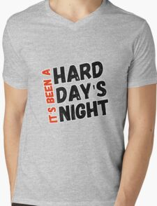 Hard Day's Night  Mens V-Neck T-Shirt