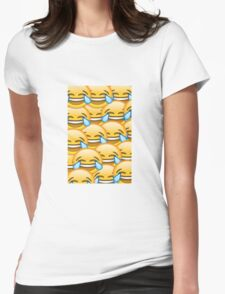 Laughing face emoji Womens Fitted T-Shirt