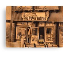 """""""Gatlinburg, Tennessee Series, #5... 'The Old Timey Photo Shop, 1st Picture""""'... prints and products Canvas Print"""
