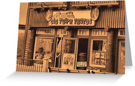 """Gatlinburg, Tennessee Series, #5... 'The Old Timey Photo Shop, 1st Picture""'... prints and products by © Bob Hall"