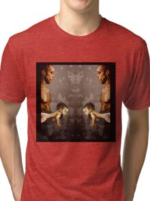 FATHER and SON - urban ART - mirror version Tri-blend T-Shirt