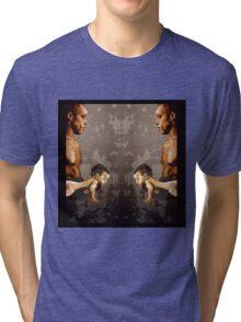 FATHER and SON - urban ART - mirror version Tri-blend T-Shirt