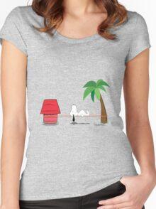 Snoopline Women's Fitted Scoop T-Shirt