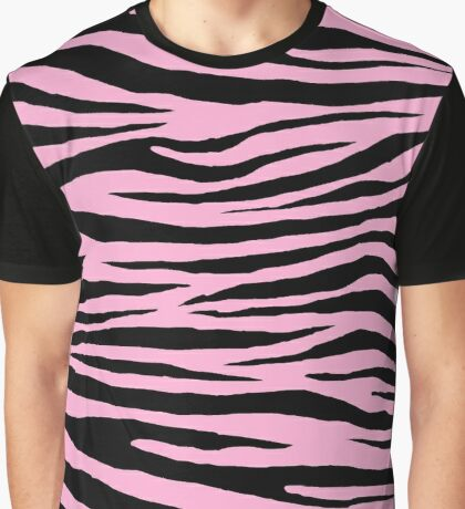 0351 Lavender Pink Tiger Graphic T-Shirt