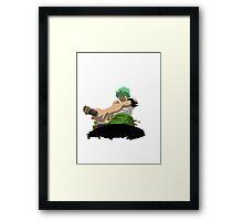Zorro Shishi Sonson against Kuma Framed Print