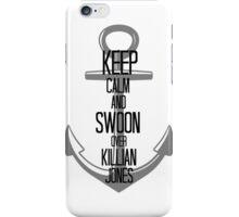 Keep Calm And Swoon Over Killian Jones iPhone Case/Skin