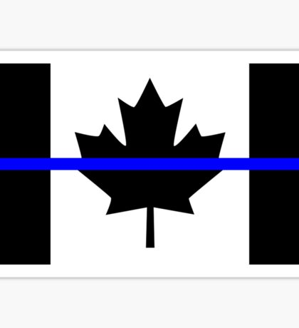 A Canadian Thin Blue Line Sticker