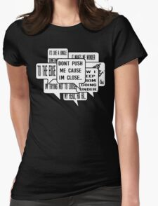 Grandmaster Flash - The Message Hip Hop lyrics Womens Fitted T-Shirt
