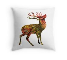 Autumnal Stag Throw Pillow