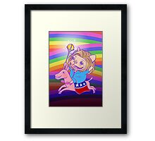 The Hilarious Rider Framed Print