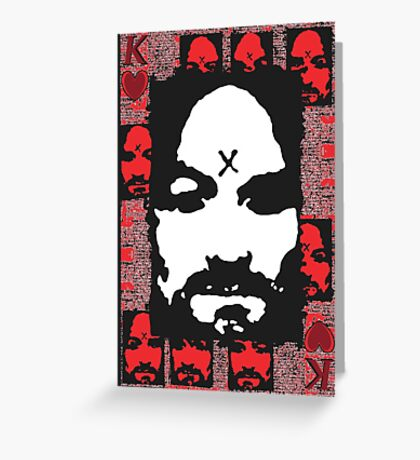 Charles Manson. Greeting Card