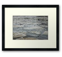 Ice floes shards Framed Print