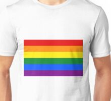 Gay Pride Rainbow Logo Flag Unisex T-Shirt