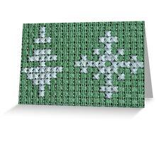Christmas tree and snowflake Greeting Card