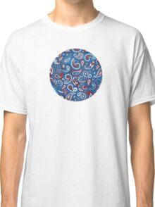 Blue Paisley Classic T-Shirt