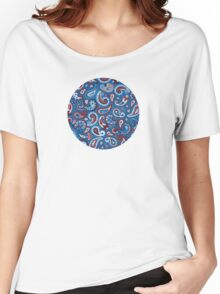 Blue Paisley Women's Relaxed Fit T-Shirt