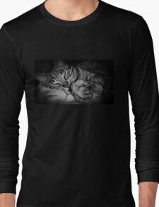 Sleeping Cat Long Sleeve T-Shirt