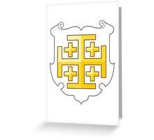Coat of Arms of the Kingdom of Jerusalem (1099–1291) Greeting Card