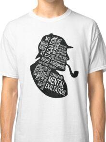 sherlock holmes gaphic art Classic T-Shirt