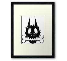 Werewolf with his bone! Framed Print