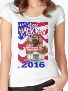 ray jackson for president 2016 Women's Fitted Scoop T-Shirt