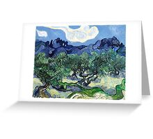 Vincent van Gogh - Olive Trees with the Alpilles in the Background Greeting Card