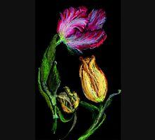 Tulpen,rot und gelb auf schwarzem Grund Women's Tank Top