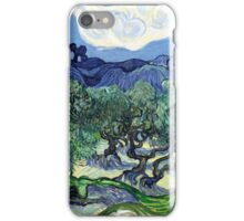 Vincent van Gogh - Olive Trees with the Alpilles in the Background iPhone Case/Skin