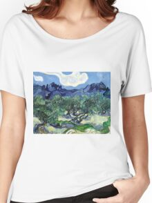 Vincent van Gogh - Olive Trees with the Alpilles in the Background Women's Relaxed Fit T-Shirt