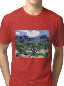 Vincent van Gogh - Olive Trees with the Alpilles in the Background Tri-blend T-Shirt