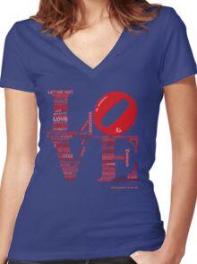 Love is Not Love, Shakespeare Sonnet 116 Women's Fitted V-Neck T-Shirt