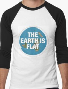 Flat earth research the truth Men's Baseball ¾ T-Shirt