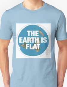 Flat earth research the truth Unisex T-Shirt