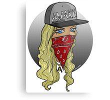 Blonde bomb shell  Metal Print