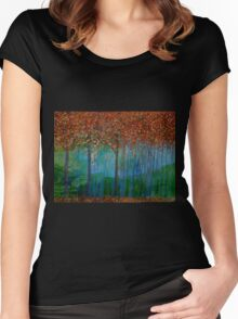 Autumn Trees Women's Fitted Scoop T-Shirt
