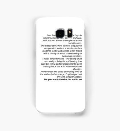 Loving Someone - The 1975  Samsung Galaxy Case/Skin