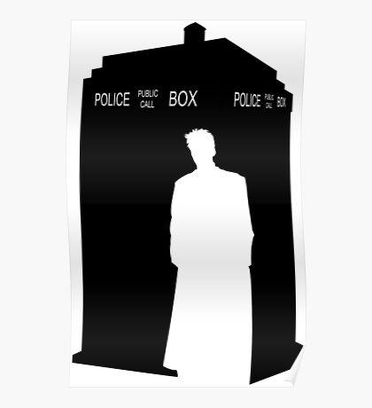 Minimalist TARDIS & 10th Doctor / David Tennant Poster