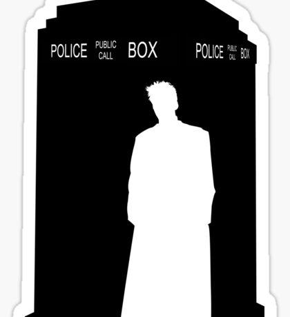 Minimalist TARDIS & 10th Doctor / David Tennant Sticker