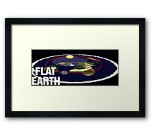 Is the earth flat flat earth Framed Print