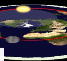 Is the earth flat flat earth Sticker