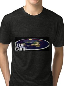 Is the earth flat flat earth Tri-blend T-Shirt