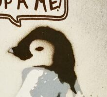 pick up a penguin  Sticker