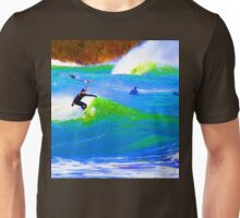 80'S Surf Style -  Beach Break Blues Unisex T-Shirt