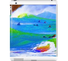80'S Surf Style -  Beach Break Blues iPad Case/Skin